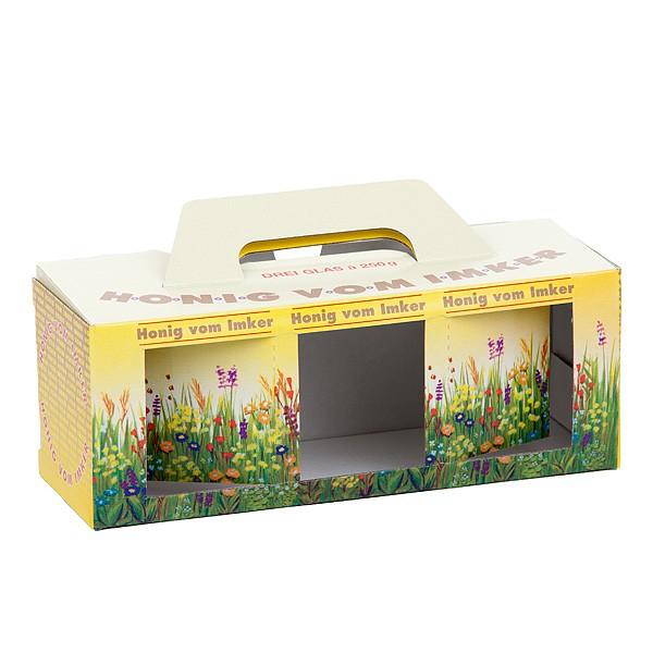 Geschenkkartons Blumenwiese 3 x 500g