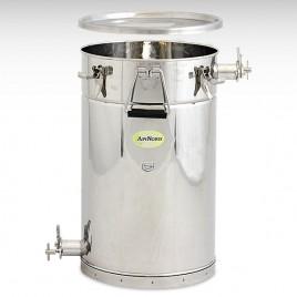ApiNord® Siebkübel 50 kg mit 2 Edelstahlquetschhähnen