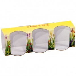 Geschenkkartons Blumenwiese 3 x 35 g