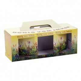 Geschenkkartons Blumenwiese 3 x 250g