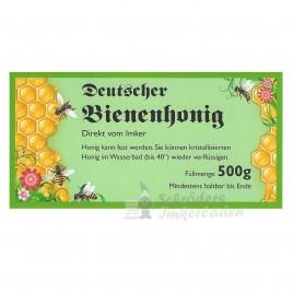 Honigglas-Etikett für 500 g, grün 100 Stück